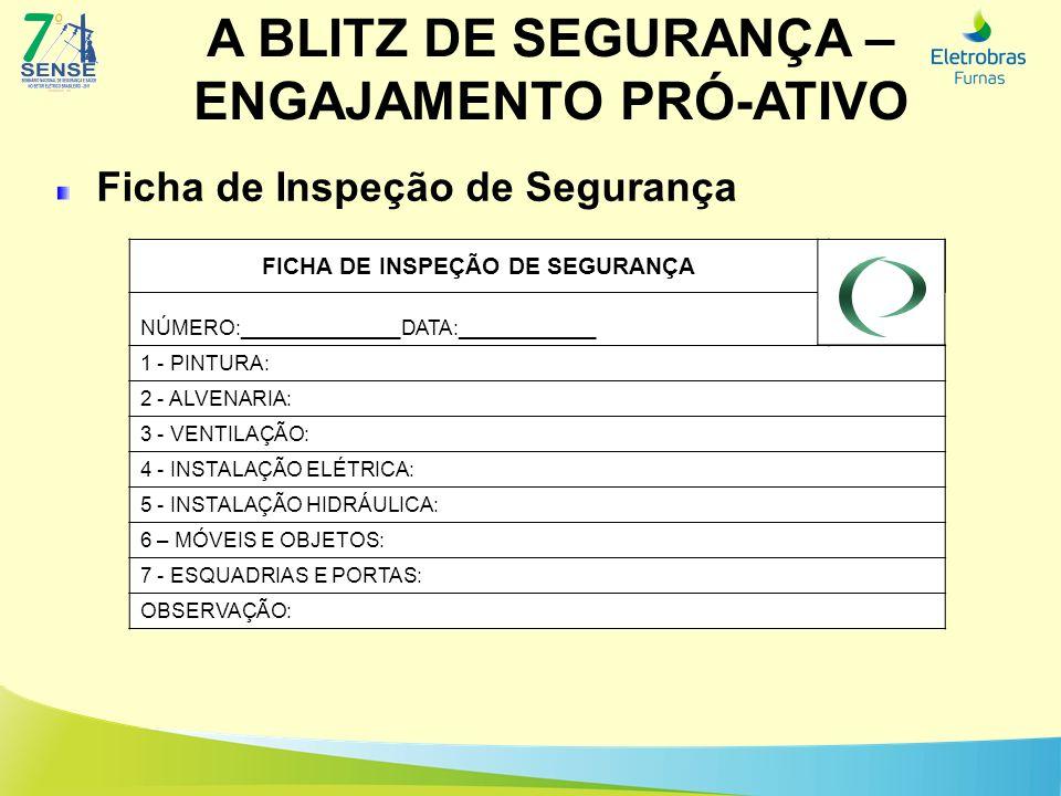FICHA DE INSPEÇÃO DE SEGURANÇA