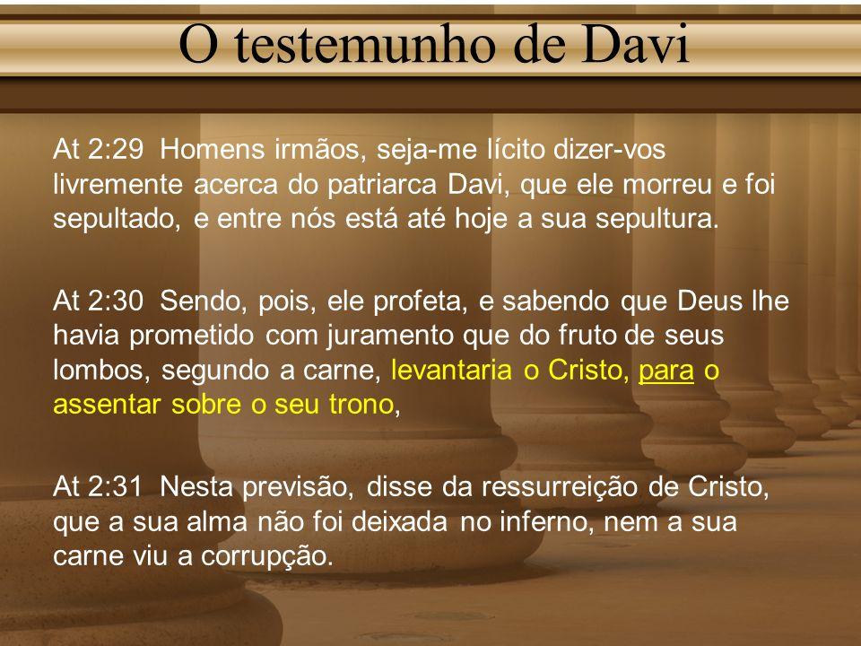 O testemunho de Davi