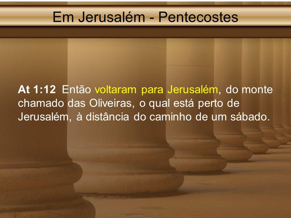 Em Jerusalém - Pentecostes