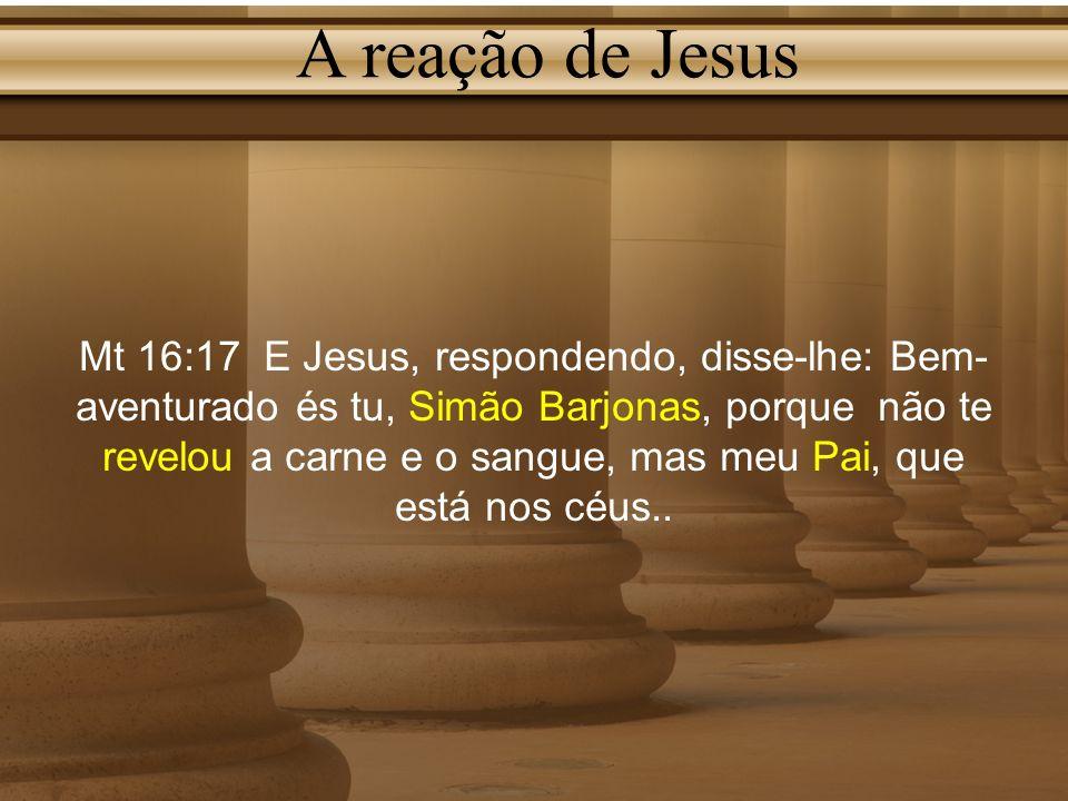 A reação de Jesus