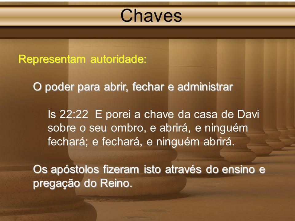 Chaves Representam autoridade: