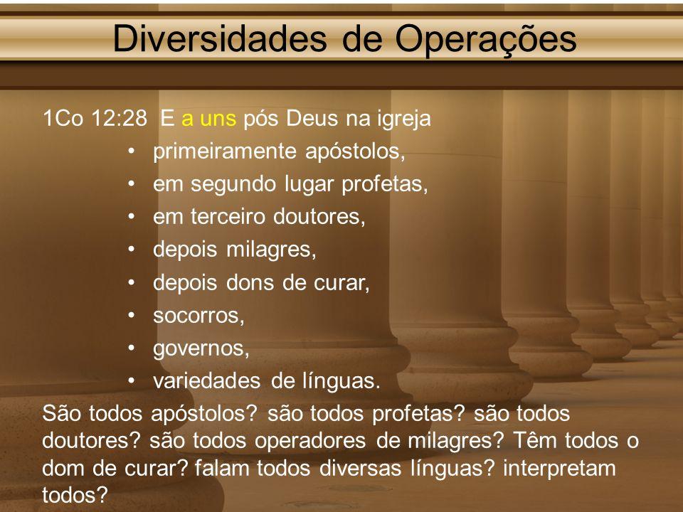Diversidades de Operações