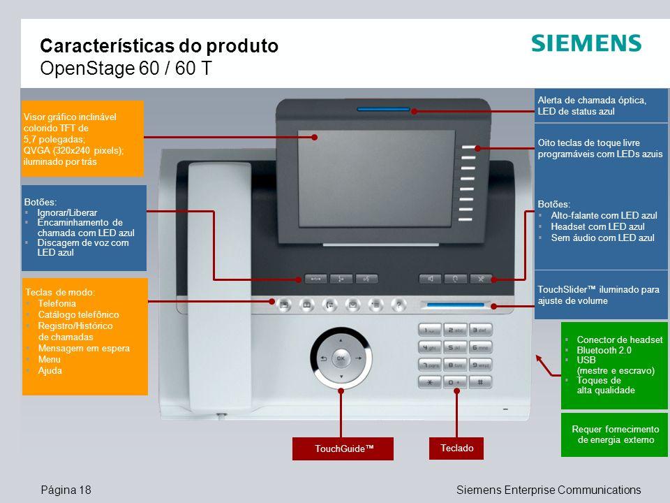 Características do produto OpenStage 60 / 60 T
