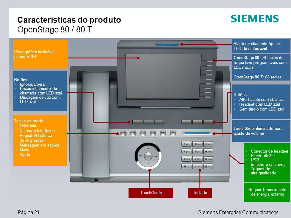 Características do produto OpenStage 80 / 80 T