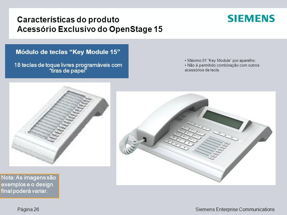 Características do produto Acessório Exclusivo do OpenStage 15