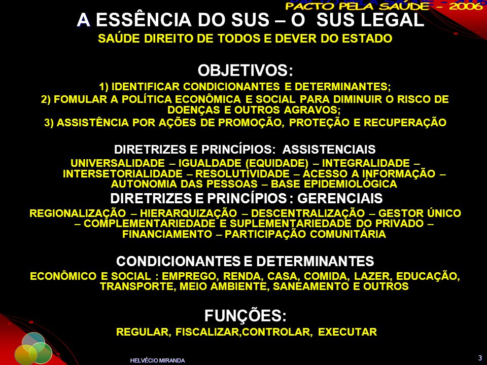 A ESSÊNCIA DO SUS – O SUS LEGAL
