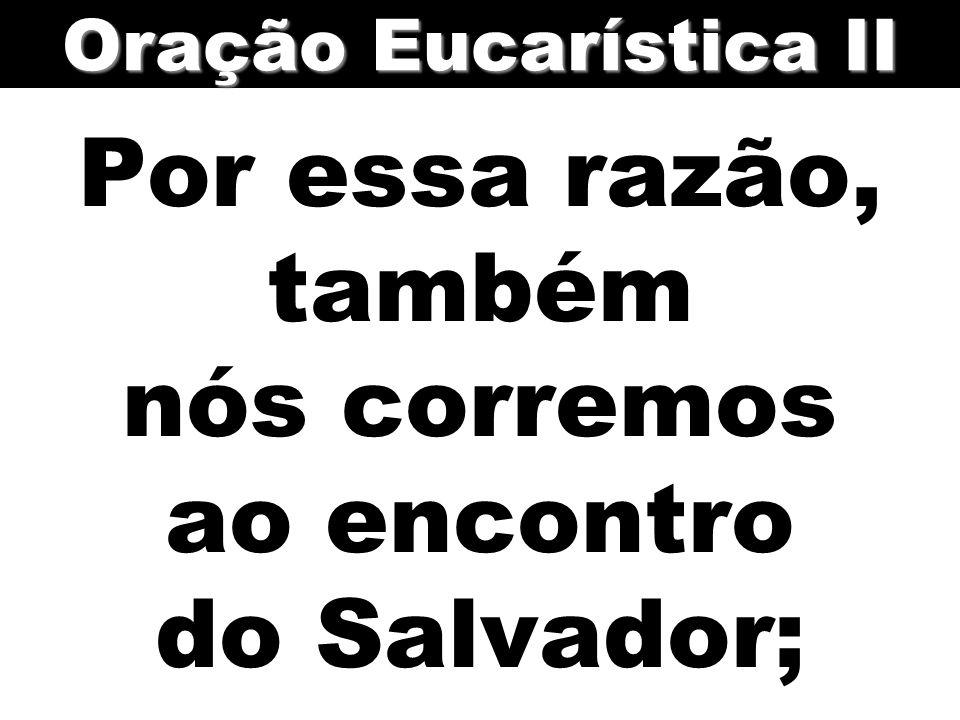 Por essa razão, também nós corremos ao encontro do Salvador;