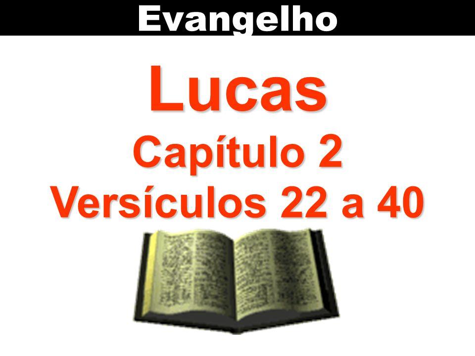 Evangelho Lucas Capítulo 2 Versículos 22 a 40