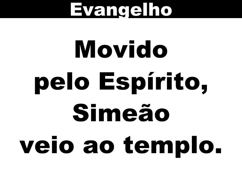 Movido pelo Espírito, Simeão veio ao templo.