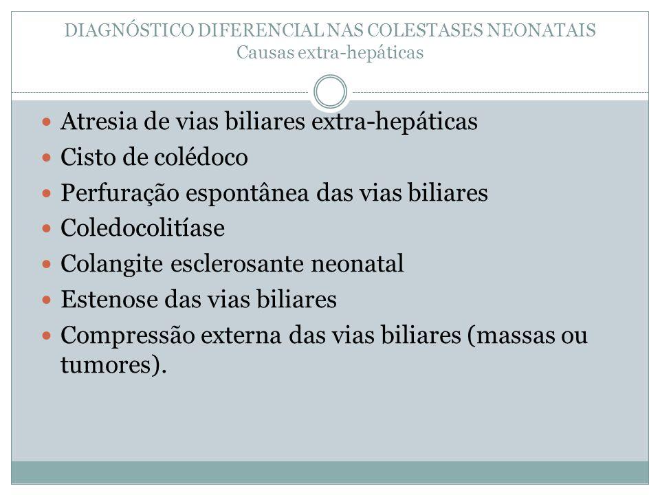 Atresia de vias biliares extra-hepáticas Cisto de colédoco