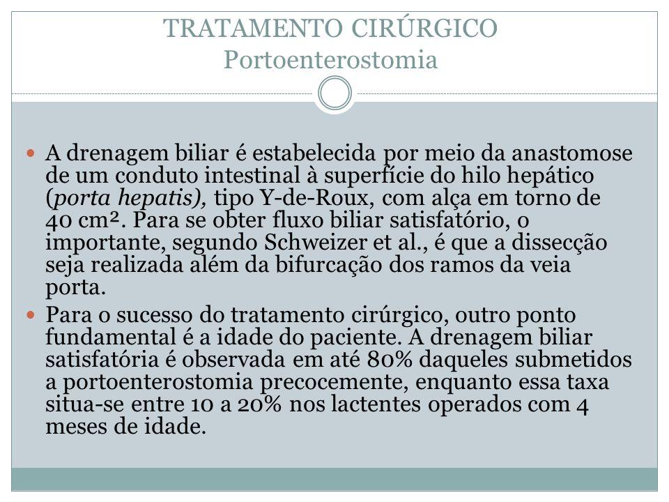 TRATAMENTO CIRÚRGICO Portoenterostomia