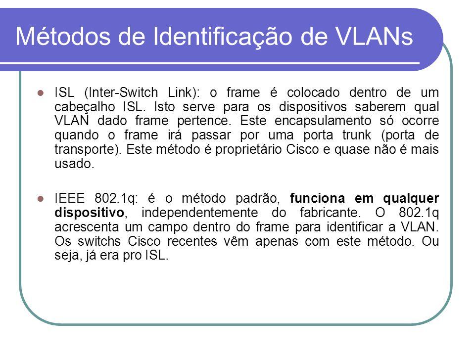 Métodos de Identificação de VLANs
