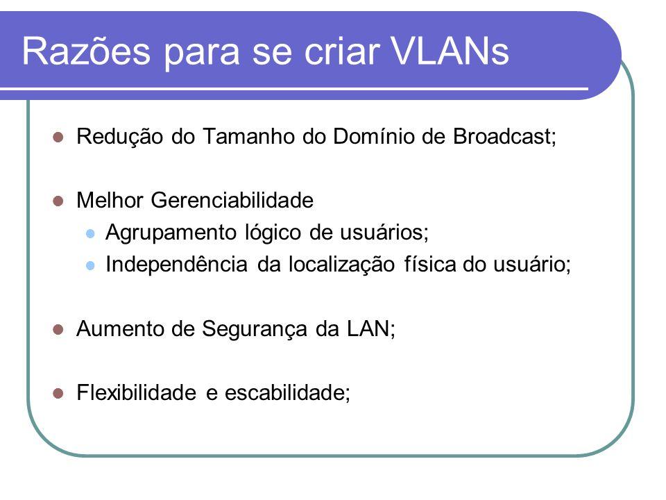 Razões para se criar VLANs
