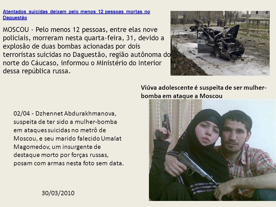 Viúva adolescente é suspeita de ser mulher-bomba em ataque a Moscou