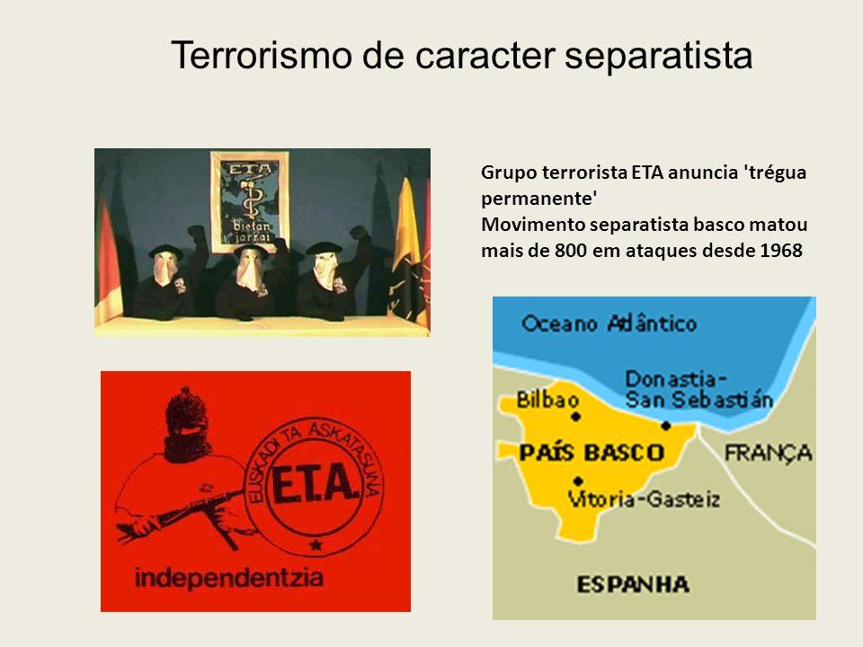 Terrorismo de caracter separatista