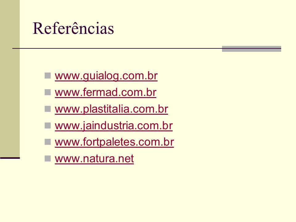 Referências www.guialog.com.br www.fermad.com.br