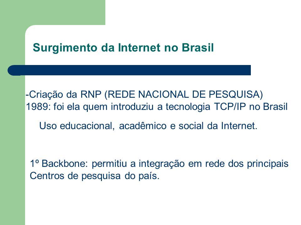 Surgimento da Internet no Brasil