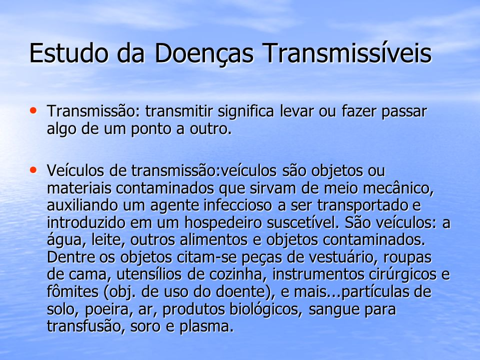 Estudo da Doenças Transmissíveis