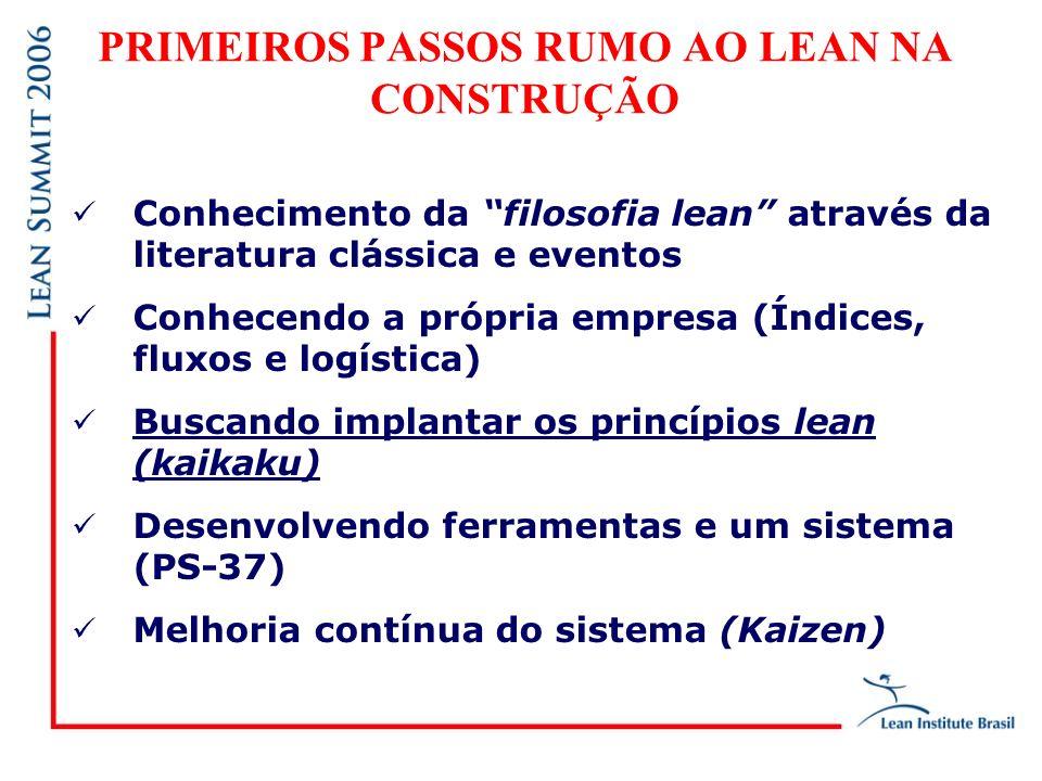 PRIMEIROS PASSOS RUMO AO LEAN NA CONSTRUÇÃO