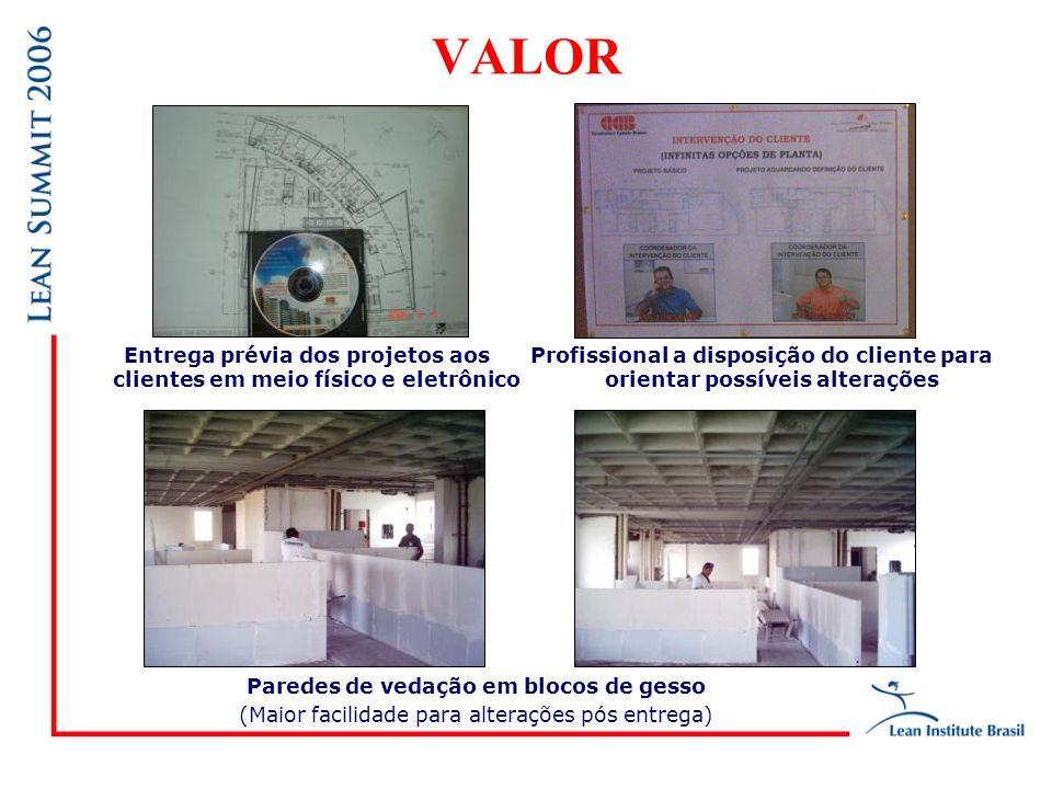 VALOR Entrega prévia dos projetos aos clientes em meio físico e eletrônico. Profissional a disposição do cliente para orientar possíveis alterações.