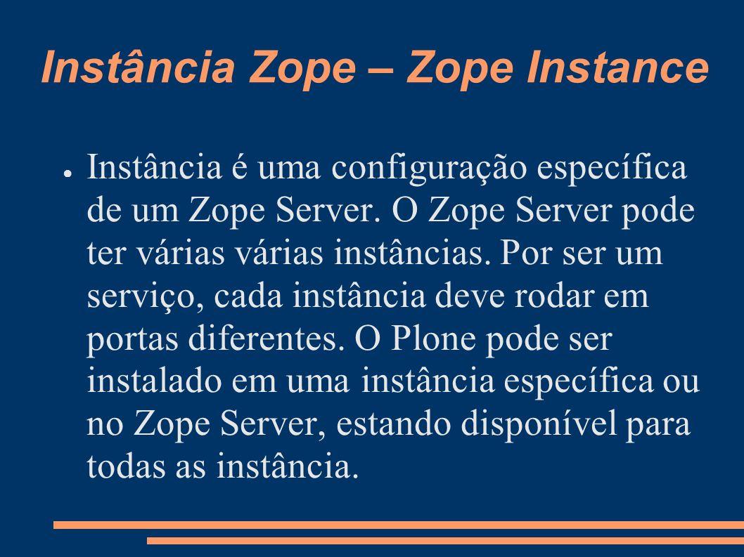 Instância Zope – Zope Instance