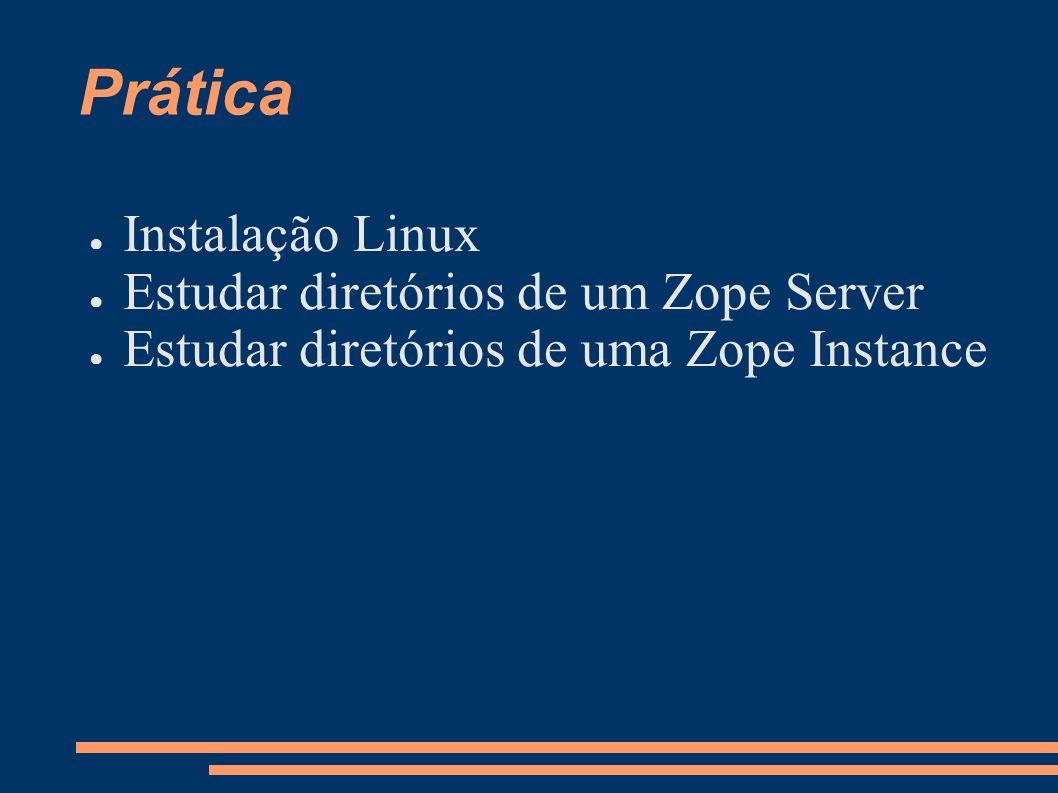 Prática Instalação Linux Estudar diretórios de um Zope Server
