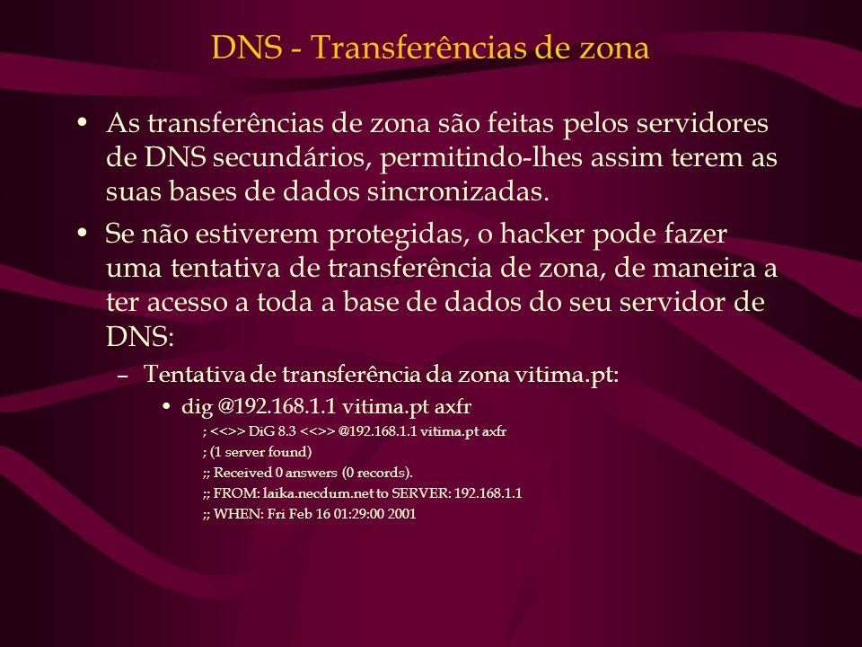 DNS - Transferências de zona