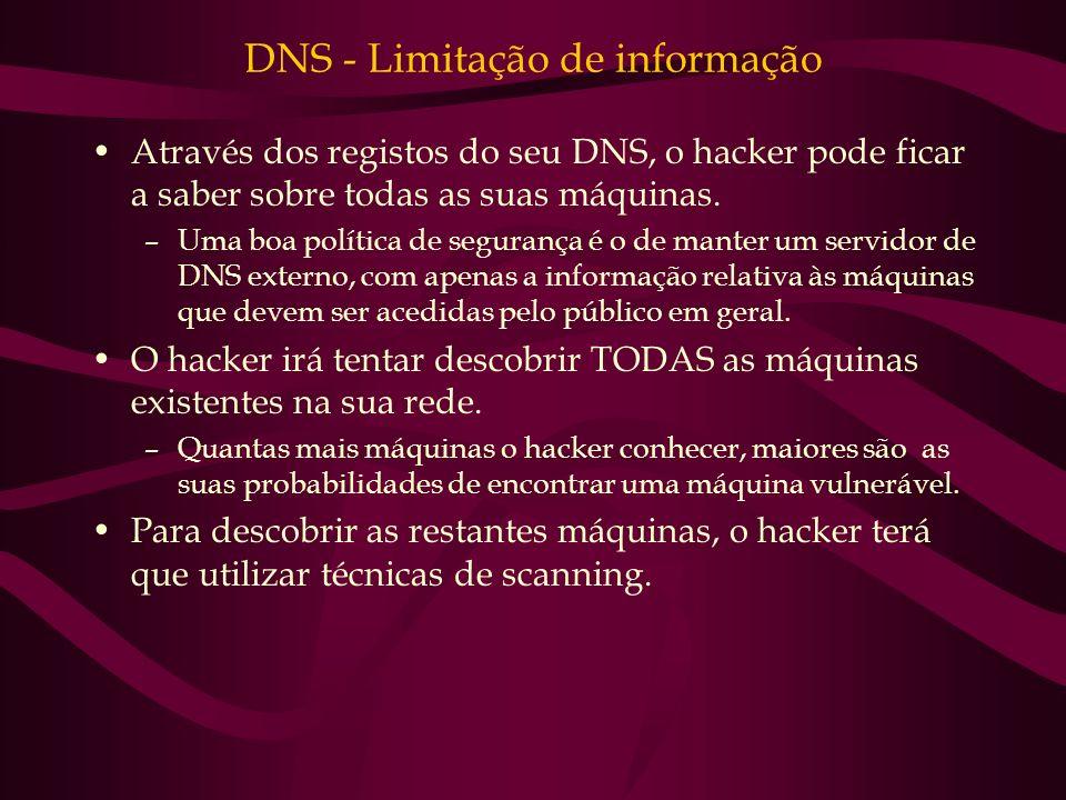 DNS - Limitação de informação