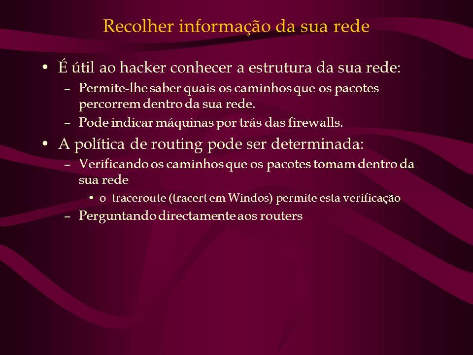 Recolher informação da sua rede