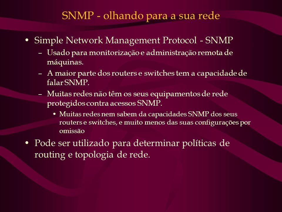 SNMP - olhando para a sua rede
