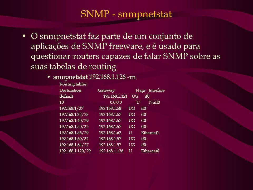 SNMP - snmpnetstat