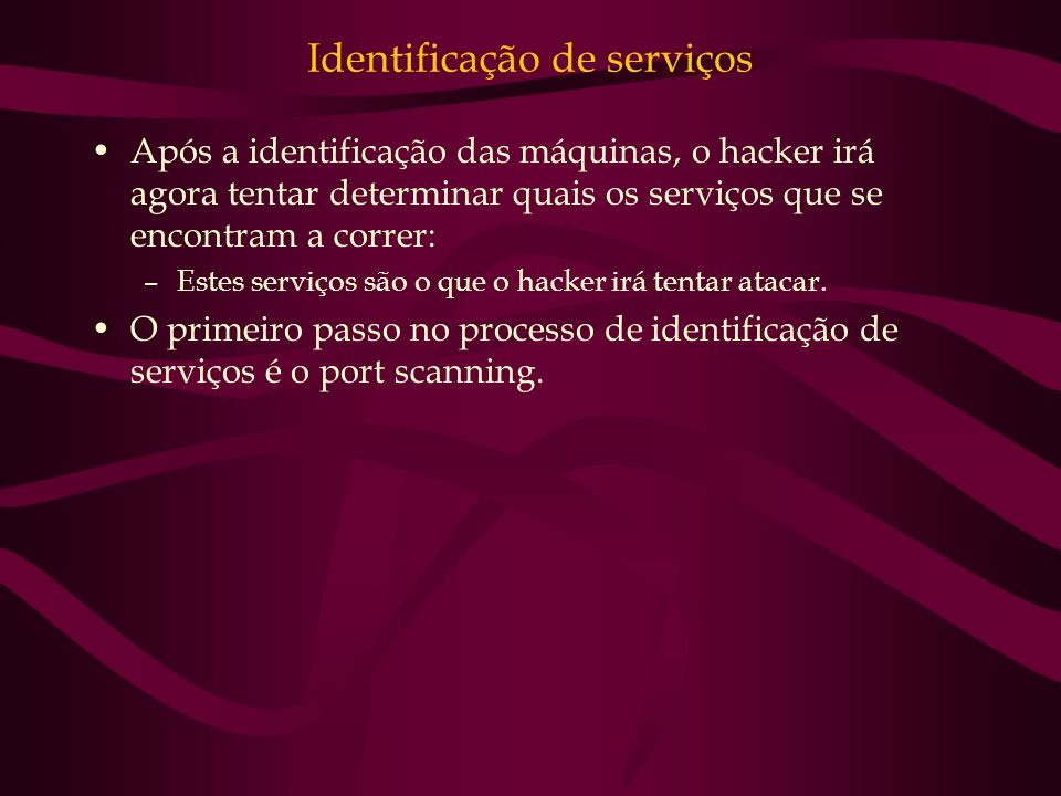 Identificação de serviços
