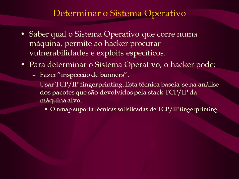 Determinar o Sistema Operativo