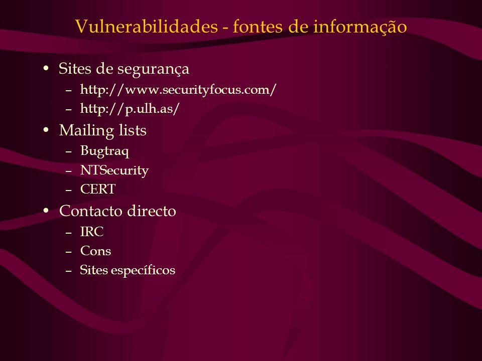 Vulnerabilidades - fontes de informação