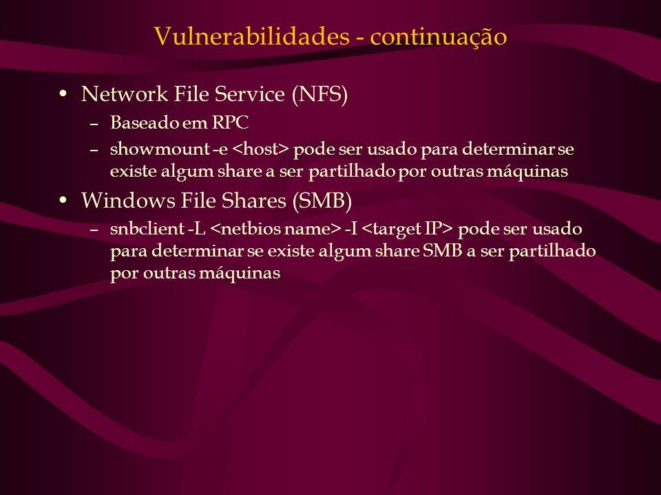Vulnerabilidades - continuação