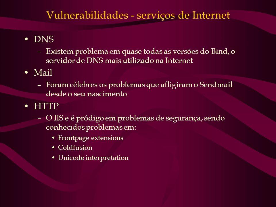 Vulnerabilidades - serviços de Internet
