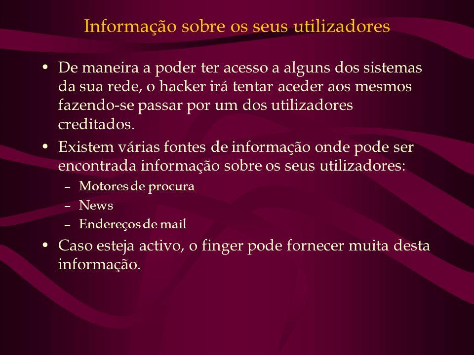Informação sobre os seus utilizadores