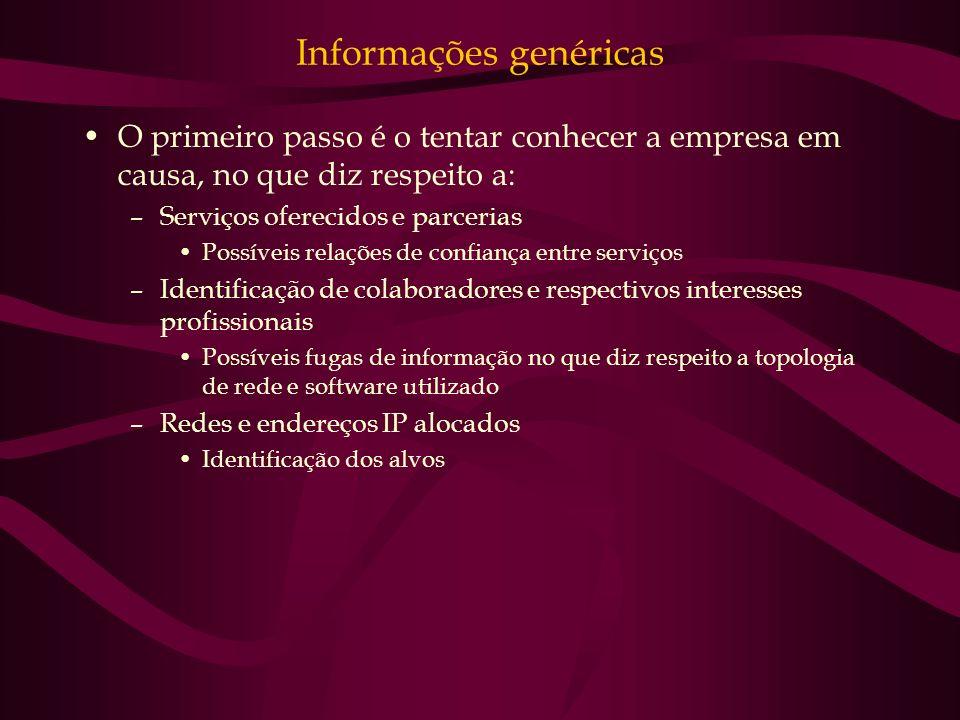 Informações genéricas