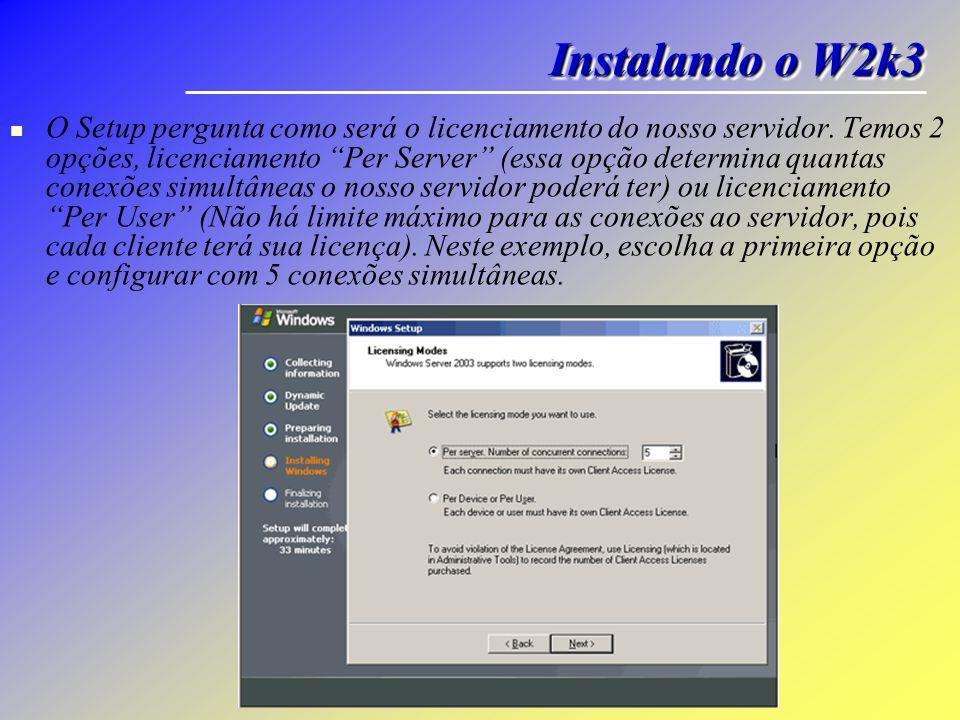 Instalando o W2k3
