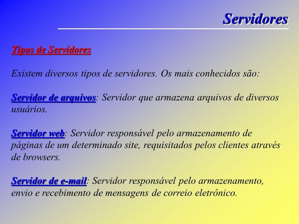 Servidores Tipos de Servidores