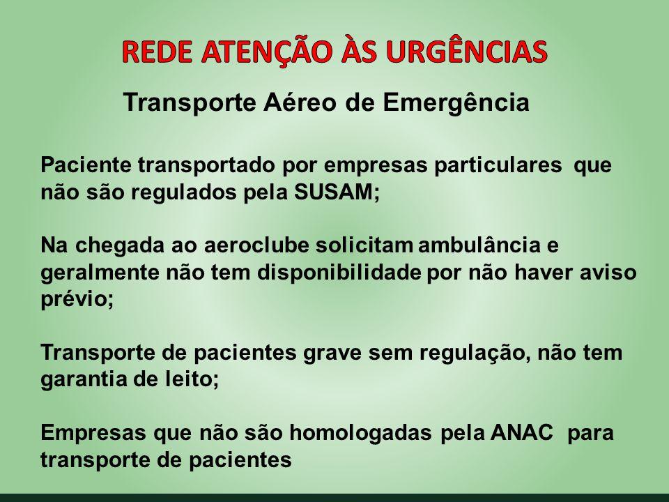 Rede Atenção às Urgências Transporte Aéreo de Emergência