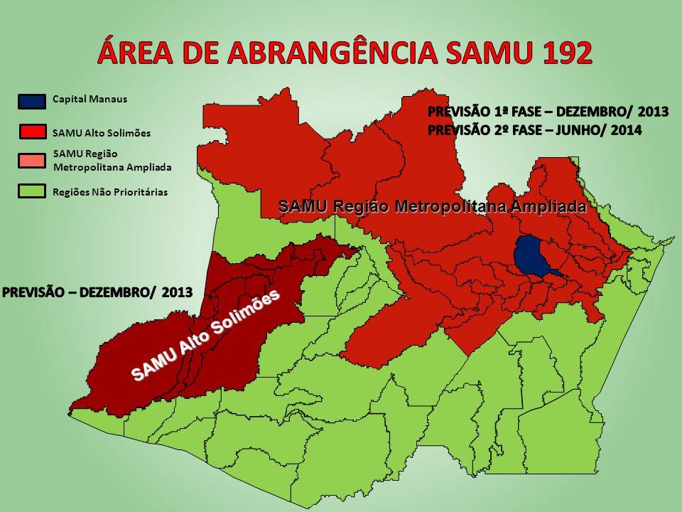 Área de Abrangência SAMU 192 SAMU Região Metropolitana Ampliada