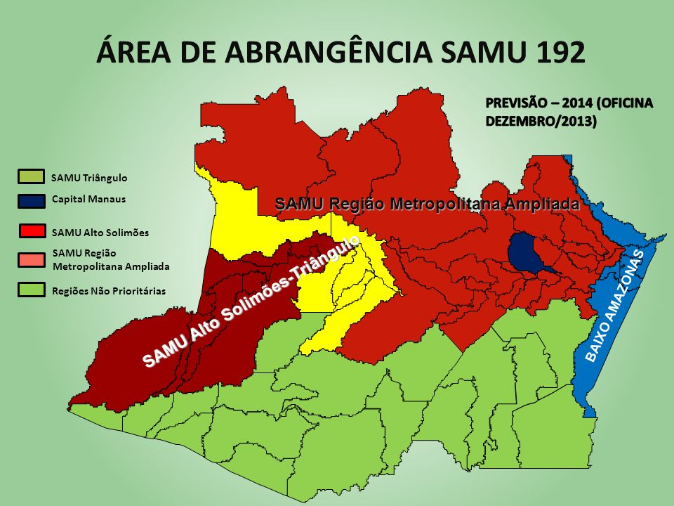 ÁREA DE ABRANGÊNCIA SAMU 192