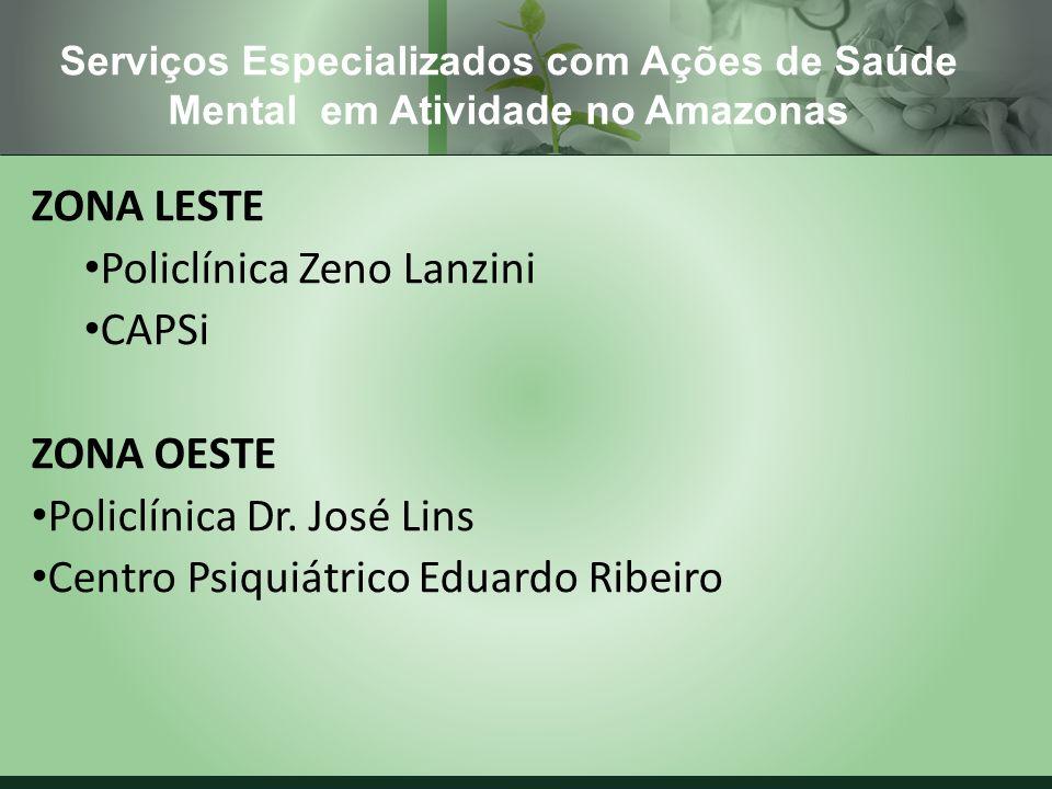Policlínica Zeno Lanzini CAPSi ZONA OESTE Policlínica Dr. José Lins