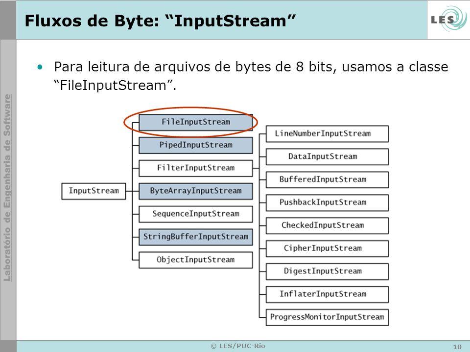 Fluxos de Byte: InputStream