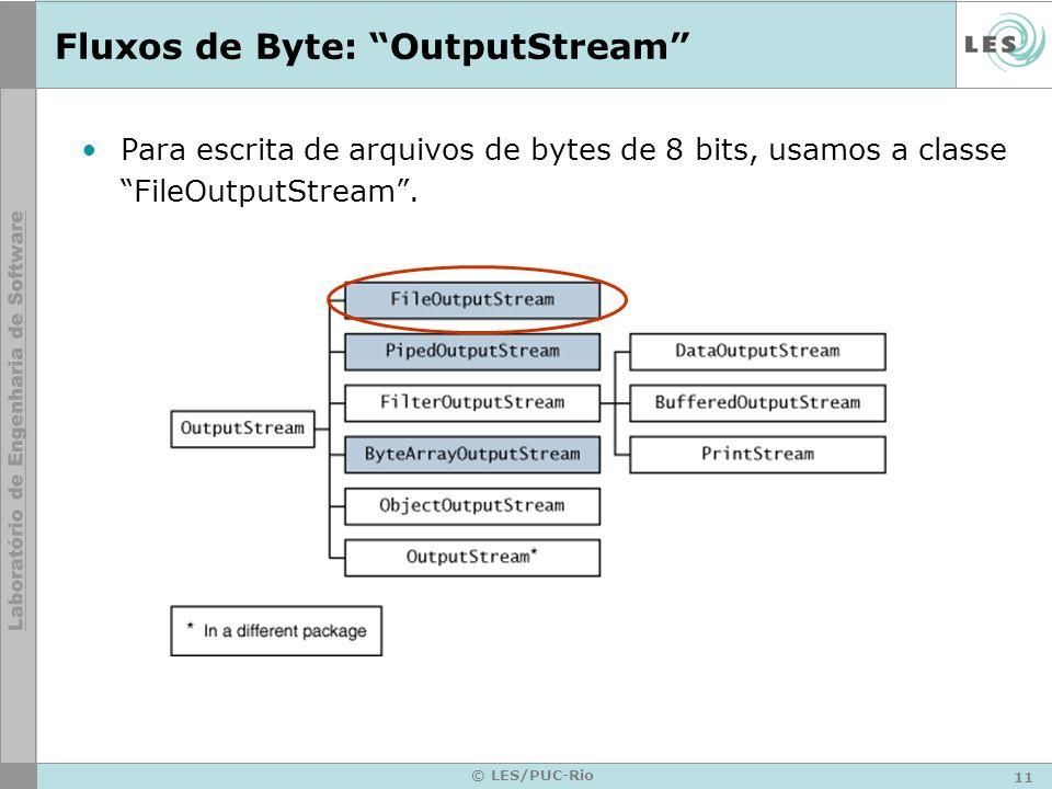 Fluxos de Byte: OutputStream
