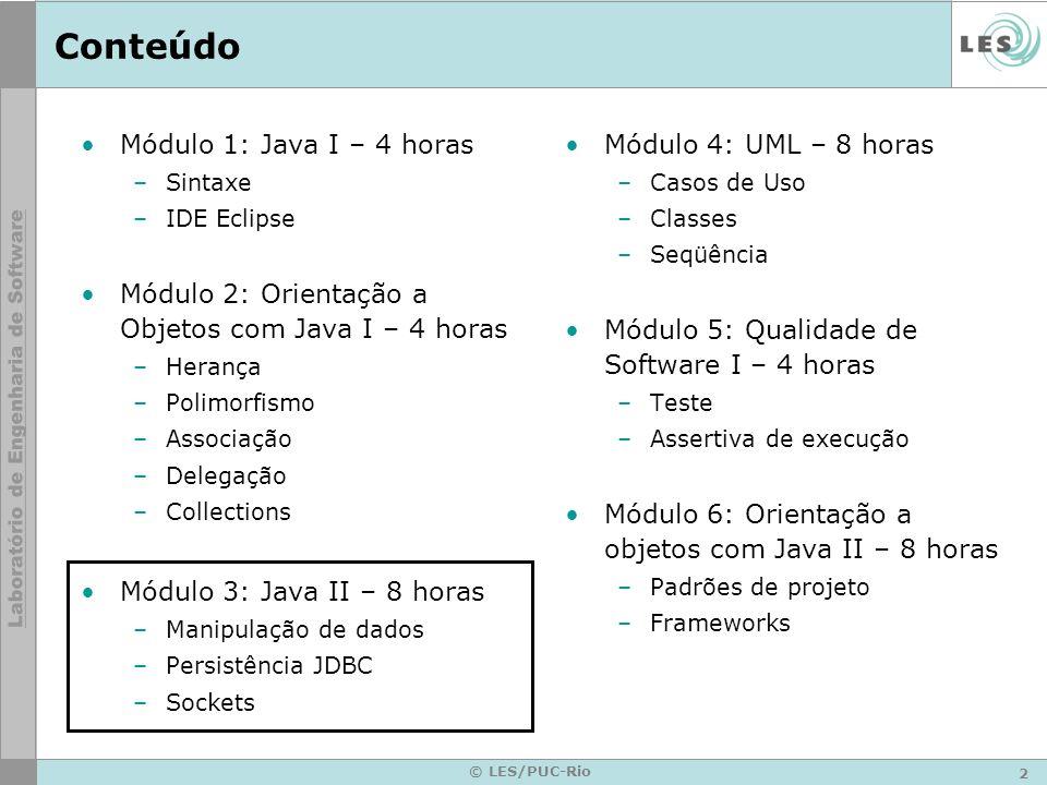 Conteúdo Módulo 1: Java I – 4 horas