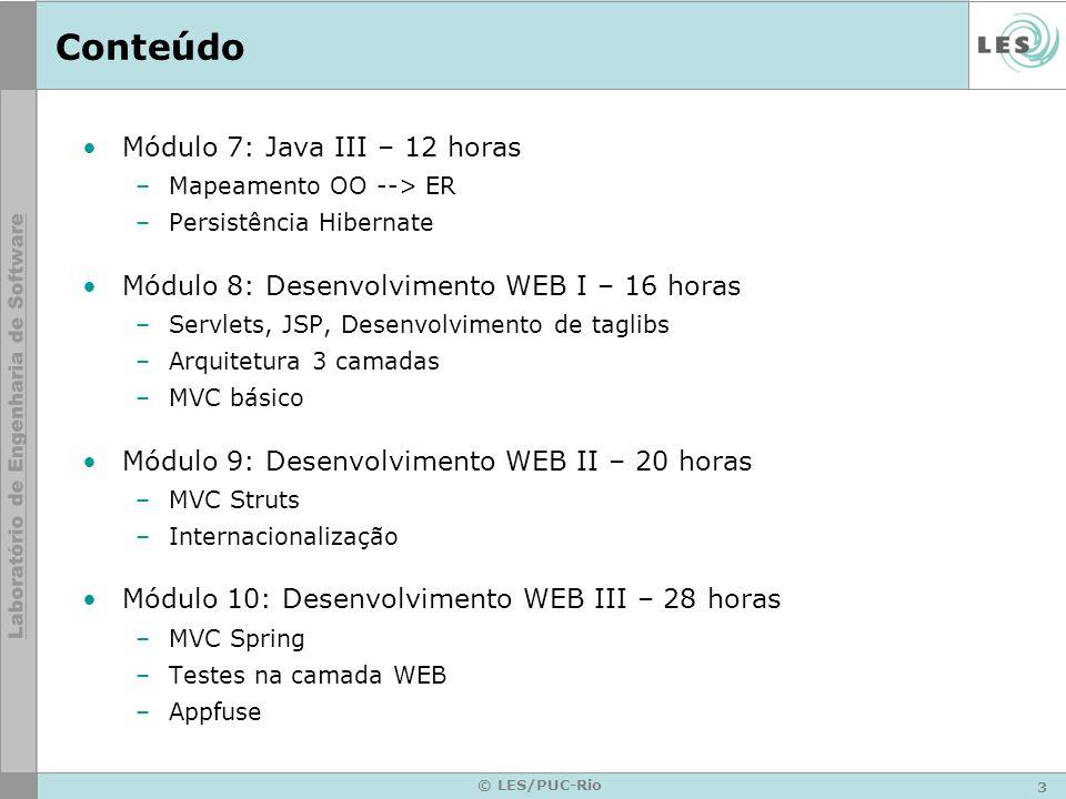 Conteúdo Módulo 7: Java III – 12 horas
