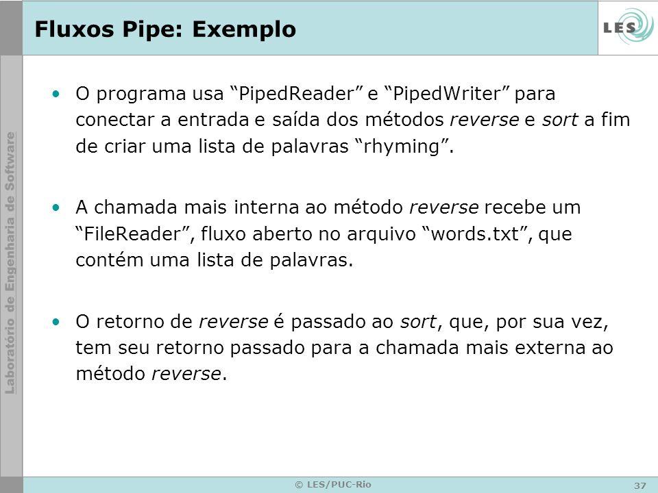 Fluxos Pipe: Exemplo