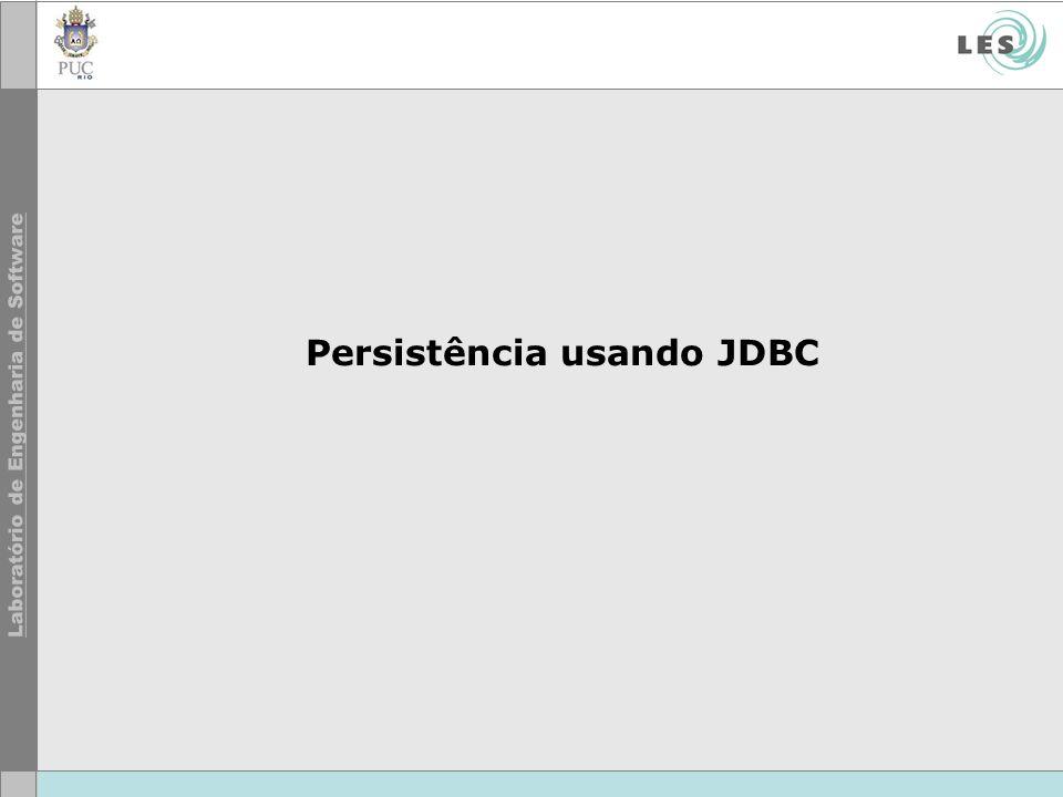 Persistência usando JDBC